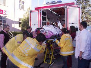 Konyada kilolu hastaya özel ambulans