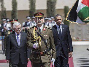 Obamayı, Filistin Devlet Başkanı karşıladı