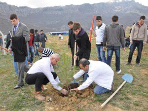 Seydişehirde 11 bin 400 fidan toprakla buluştu