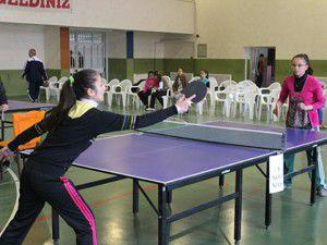Beyşehirde masa tenisi heyecanı