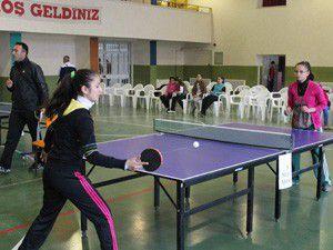Beyşehirde masa tenisi turnuvası