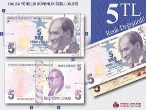 """""""5 lira""""lar değişti"""