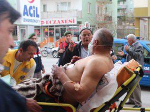 Beyşehirde bıçaklı kavga