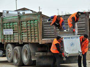 Akşehir, köylerde temizlik hizmetlerine başladı