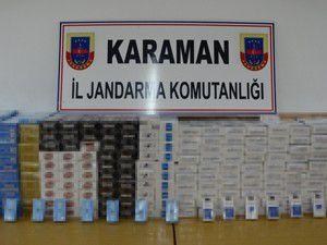 Valizden 13 bin paket kaçak sigara çıktı