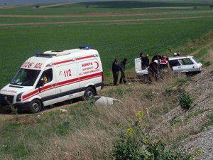 Akşehirde trafik kazası; 1 yaralı
