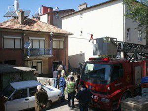 Beyşehirde yangın
