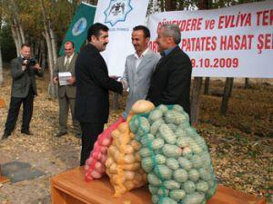 Organik patates hasat şenliği yapıldı