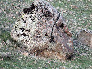 İnsan kafasına benzeyen kaya ilgi çekiyor