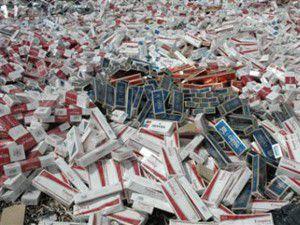 6 Bin 200 paket kaçak sigara