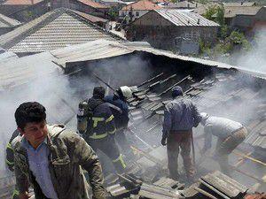 Ocaktan çıkan yangın 3 eve sıçradı