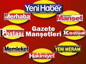 Konyada Gazete Manşetleri...