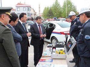 Beyşehirde trafik güvenliği sergisi açıldı