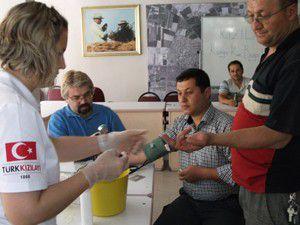 Karapınarda kan bağışı kampanyası