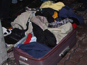 Konteynere bırakılan valiz paniğe neden oldu