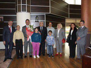 Engelli öğrenciler Başkan Hançerliyi ziyaret etti