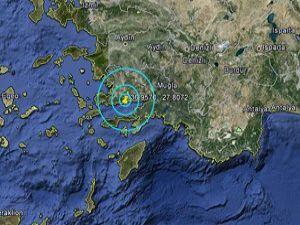 Muğlada 5 dakika arayla iki deprem