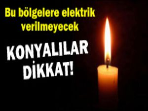 Konyada elektrik kesintisi