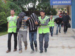 Hırsızlık şüphelilerinden 7si tutuklandı
