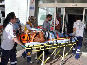 Seydişehirde trafik kazası