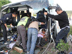 Bilecikte trafik kazası: 33 yaralı