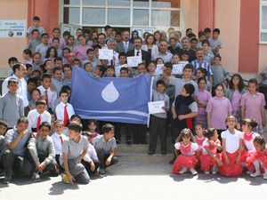 Suyu israf etmeyen okullara mavi bayrak