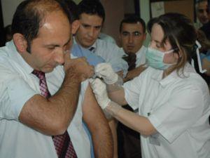 Konyada ilk aşı yapıldı