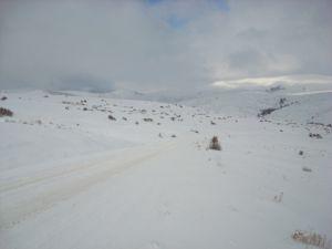 Konya kırsalında kar fena bastırdı