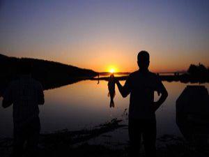 İvriz Barajında gün batımı keyfi