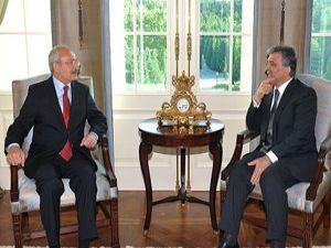 Gül, CHP Genel Başkanı Kılıçdaroğlunu kabul etti