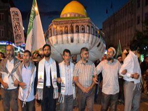 """Konyada """"Kudüs Özgür Olsun"""" yürüyüşü"""