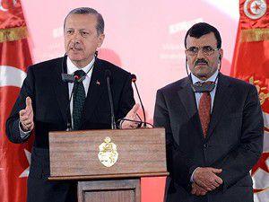 Erdoğana Tunusta sevgi gösterisi