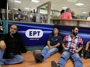 Yunanistanda basın çalışanları grevde
