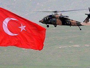 Teröristler askeri helikoptere ateş açtı