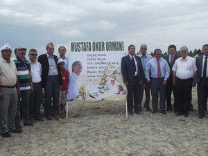 """""""Mustafa Okur Hatıra Ormanı""""nın açılışı yapıldı"""