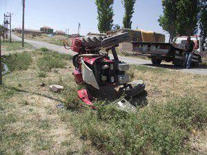 Traktör devrildi; 1 yaralı