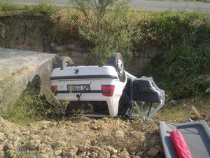 Konyada otomobil devrildi; 1 yaralı