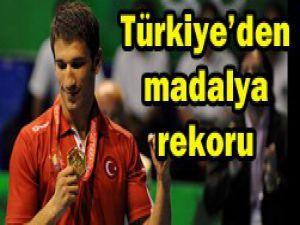 Türkiyeye madalya yağıyor