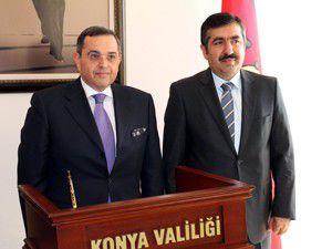 Azeri Büyükelçiden Vali Doğana ziyaret