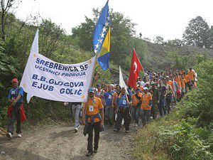 """Srebrenitsada """"ölüm yürüyüşü"""" başladı"""