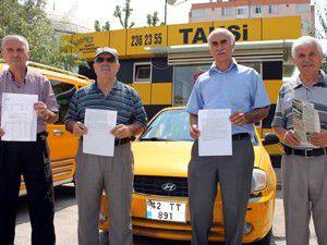 Emekli taksiciler kesintiye çözüm istiyor