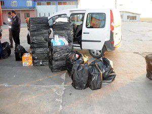 Boş tırdan 13 bin paket kaçak sigara çıktı