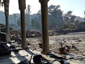 Halid Bin Velid Türbesi yıkıldı