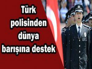 Türk polisinden barışa destek