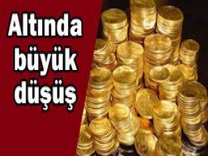 Altın fiyatları yüksekten düştü