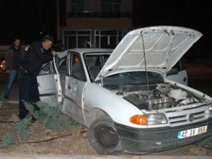 Bayan sürücünün kazası ucuz atlatıldı