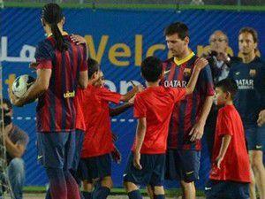 Filistinli çocukların Messi sevinci!