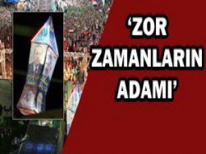 Adeviyye Meydanına Erdoğan fotoğrafı