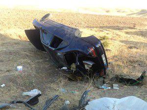 Otomobil şarampole devrildi 6 yaralı