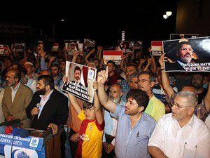 Konyada Mısırdaki katliama protesto